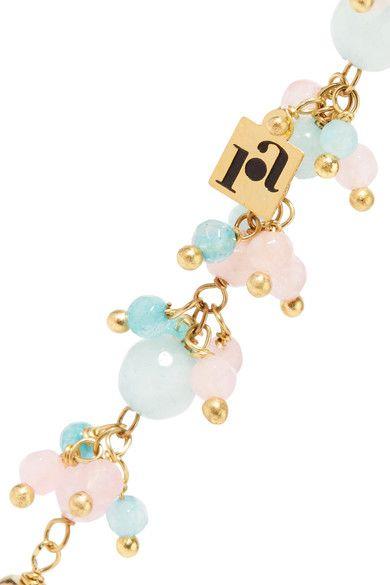 Rosantica Woman Baby Tinsel, Turquoise And Quartz Bracelet Pink Size ONESIZE Rosantica