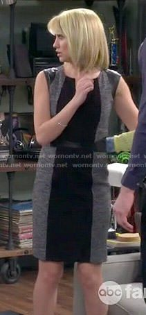 4d03dbb46011 Riley s grey and black leather-shoulder dress on Baby Daddy