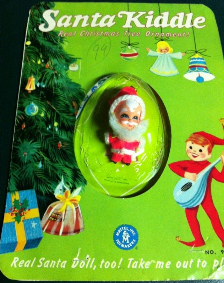 santa kiddle christmas tree ornament by mattel 1960 s we had