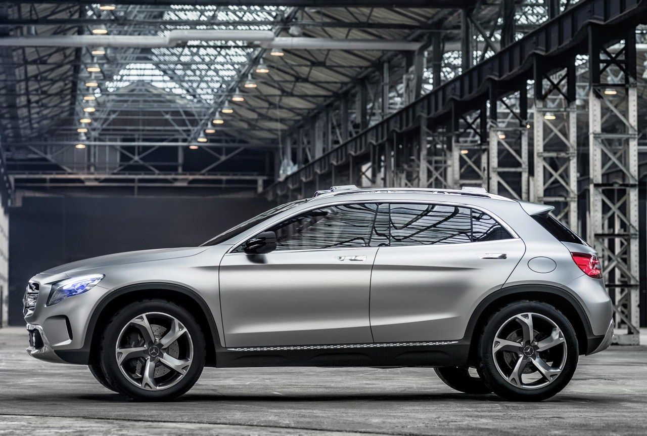 The new mercedes gla a compact suv crossover based on the mercedes a class has gone in to production this week at mercedes rastatt plant