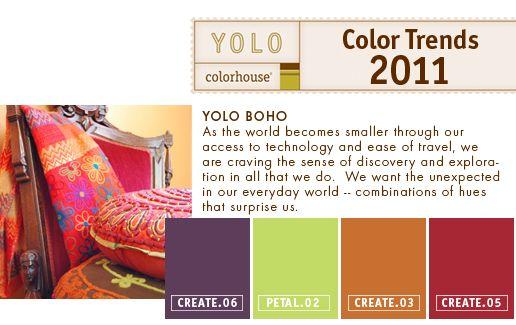 Color Trends 2011 U2013 YOLO Boho, By YO | YOLO Colorhouse Gallery