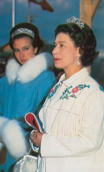 Princess Anne meander tiara Queen Elizabeth small aquamarine