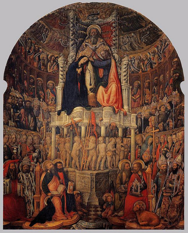 VIVARINI Antonio detto anche Antonio da Murano (Murano, 1418 circa – Venezia, tra il 1476 e il 1484) - Coronation of the Virgin #TuscanyAgriturismoGiratola