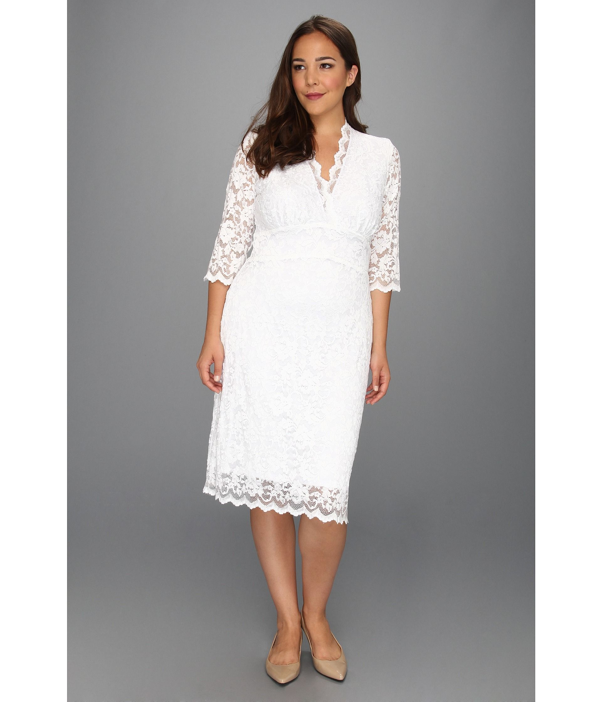 Kiyonna wedding dress  Kiyonna Luxe Lace Wedding Dress White  Zappos Free Shipping