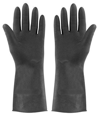 Elliott 1 pair Extra Large Tough Rubber Gloves, Black
