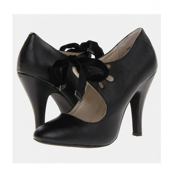 Black Closed Toe Cut Out Hailee Heels | Unique Vintage (155 BRL) ❤ liked on Polyvore featuring shoes, pumps, heels, black, vintage, black pointed-toe pumps, high heeled footwear, pointy toe pumps, black high heel pumps and black heeled shoes