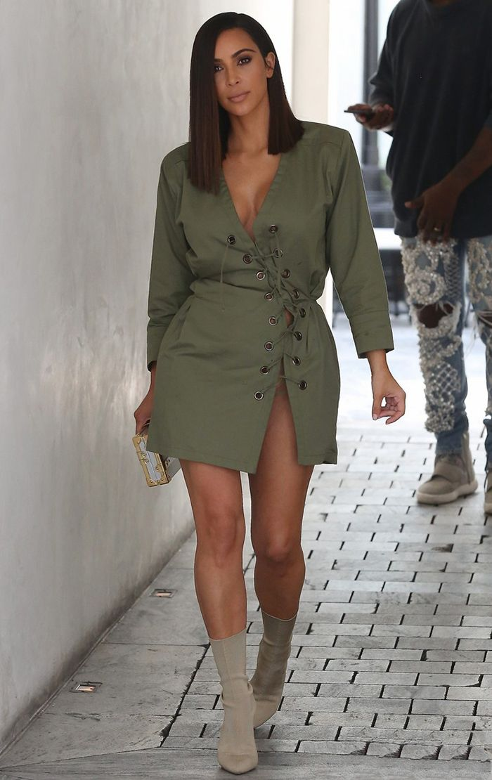 4584559a85b38 Kim Kardashian Showed Us How To Rock Sock Boots In Summer Heat ...