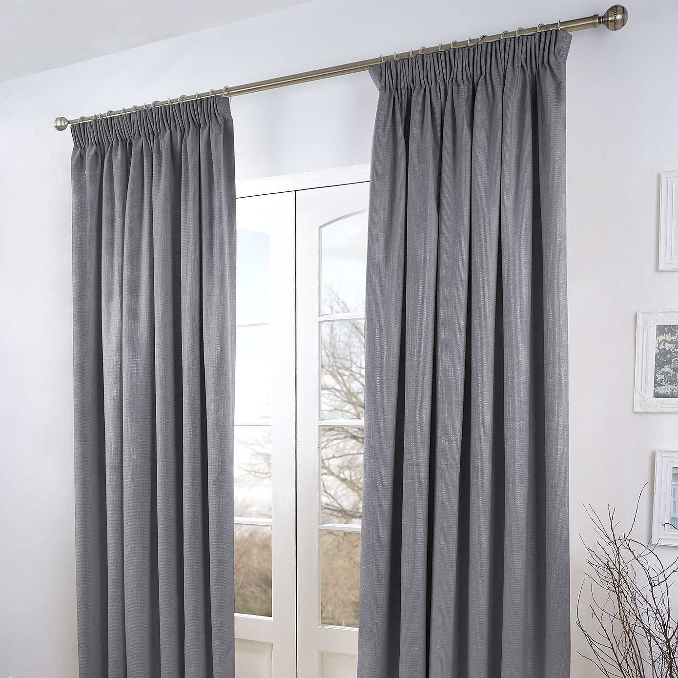 grey verbier thermal pencil pleat curtains dunelm home. Black Bedroom Furniture Sets. Home Design Ideas