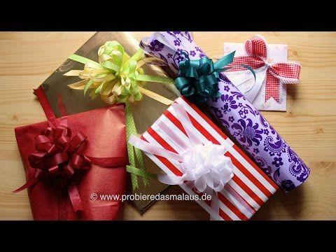 diy geschenke sch n verpacken 5 varianten probiere das mal aus youtube geschenk. Black Bedroom Furniture Sets. Home Design Ideas