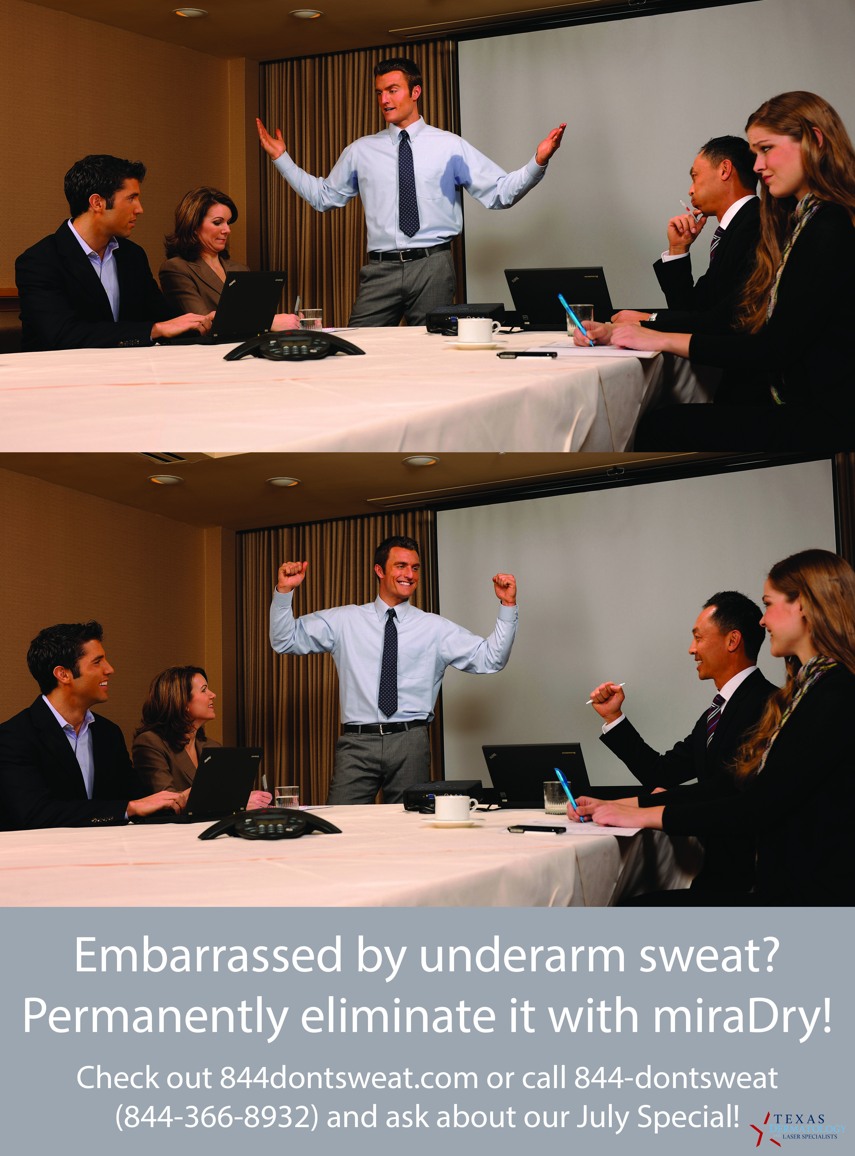 Embarrassed by underarm sweat? Permanently eliminate it with