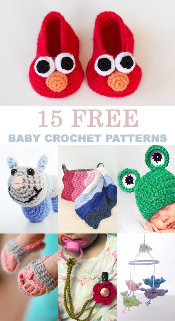 15 Free Baby Crochet Patterns Crochet For Baby Pinterest