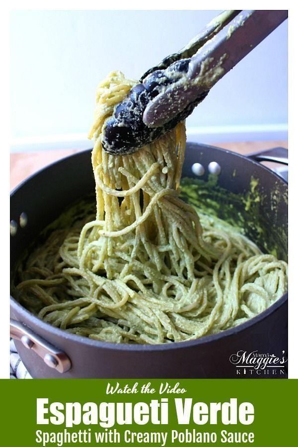 Espagueti Verde + VIDEO - Mamá Maggie's Kitchen