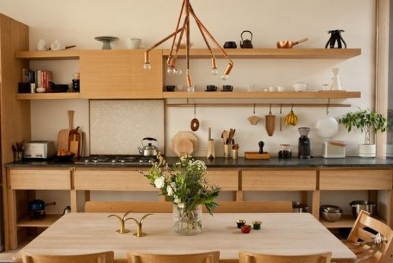 Cuisine De Style Japonais Et Minimaliste Kitchen Interior Kitchen Style Interior Design Kitchen