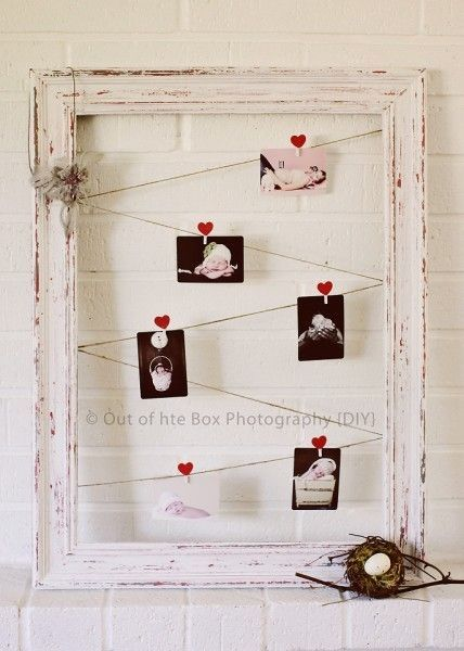 DIY tutorial for shabby chic frame. Very pretty way to display ...