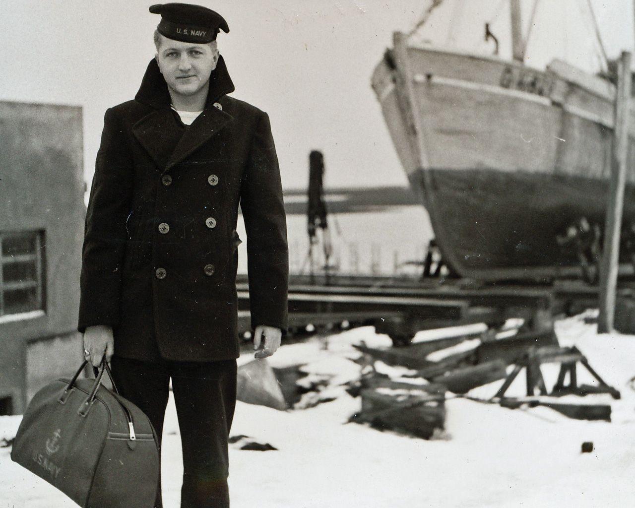 Pea coat mantel der us navy