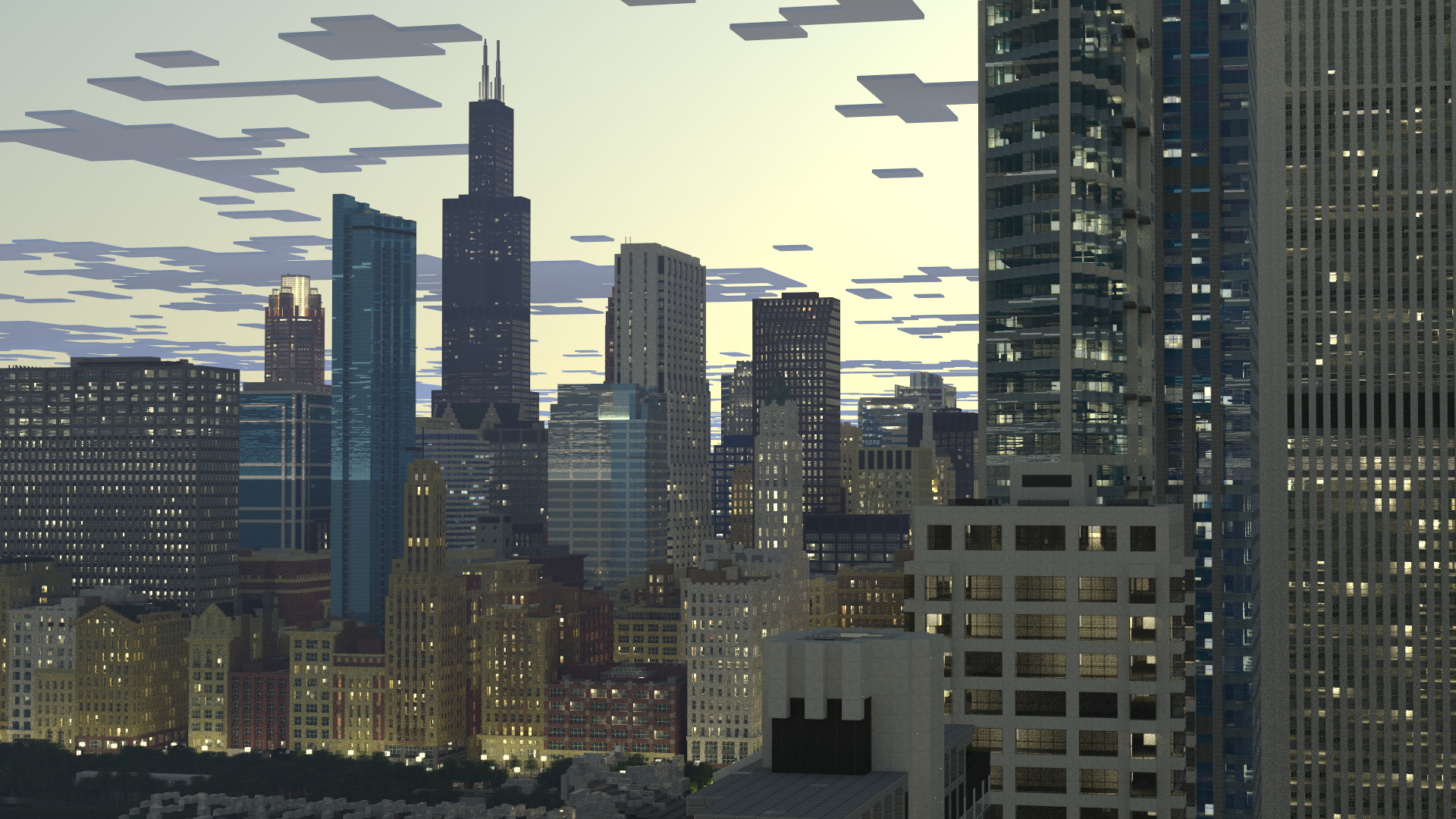 Friday Eye Candy A Minecraft Duplicate of Chicago