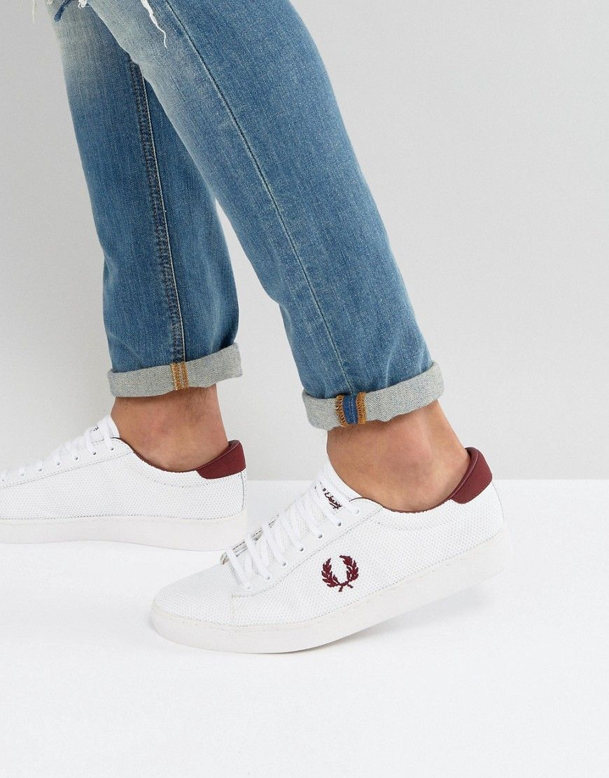 81ed61f828afc6 FRED PERRY SPENCER MESH SNEAKERS IN WHITE - WHITE.  fredperry  shoes ...