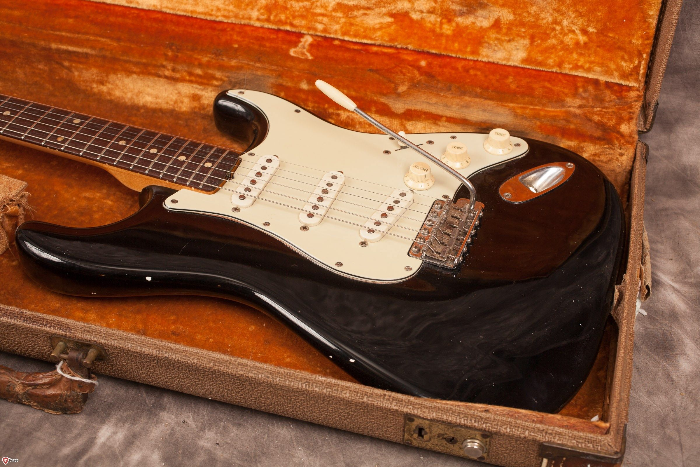 """1966 Fender Stratocaster """"Charcoal Frost"""" Fender Guitars and Amplifiers Pinterest"""