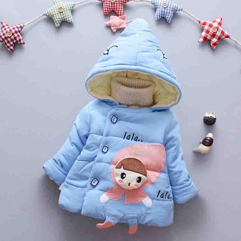ba77ff5e7 BibiCola 0-24 months Winter Newborn Baby Girls Coat Jacket 2018 New ...