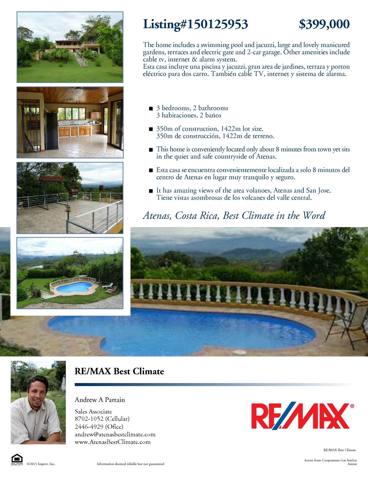Home for sale in Atenas! Swimming pools, Pool, Jacuzzi