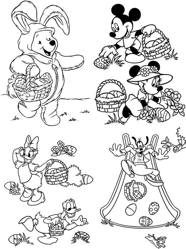 dibujos para colorear pascua