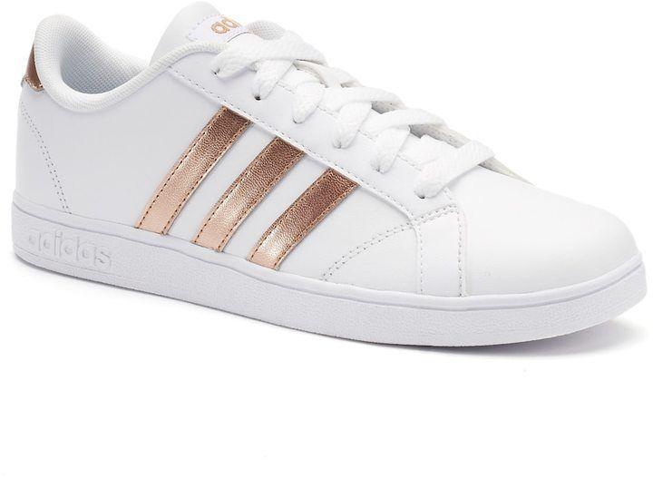 adidas Baseline Kid's Shoes - rose gold stripes, size 3 (DSW ...