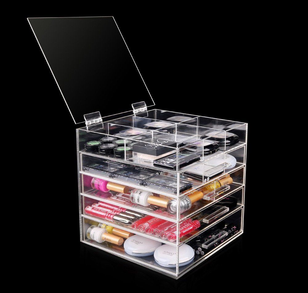 Acrylic Makeup Organizer Target Prepossessing Diy Makeup Vanity Desk Set Up  Alex Ikea Hack Vanity Girl Decorating Inspiration