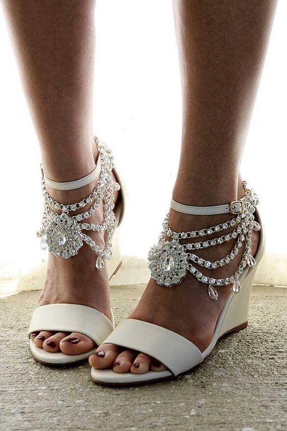 Ladies ivory wedges Ivory Heels Bridal Wedges Comfortable ec4ac0fdda4a