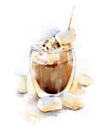 watercolor food illustrations for campus cooking tumblr com