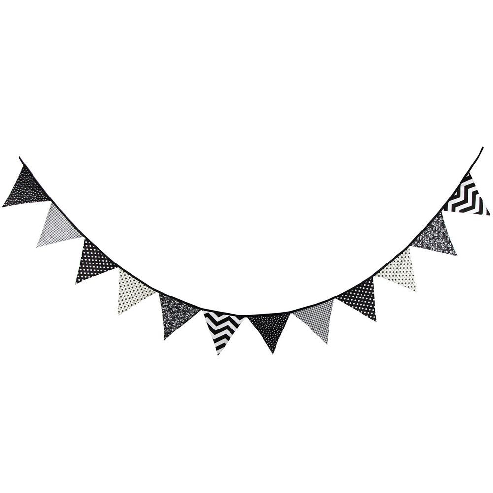 BOYS NAUTICAL COLOURS BIRTHDAY BUNTING PARTY BANNER 12 FLAGS PENANTS