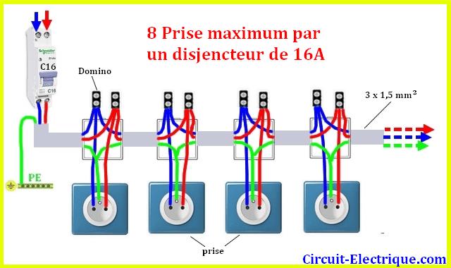 Branchement Prise Electrique De Courant Prise Electrique Circuit Electrique Electrique