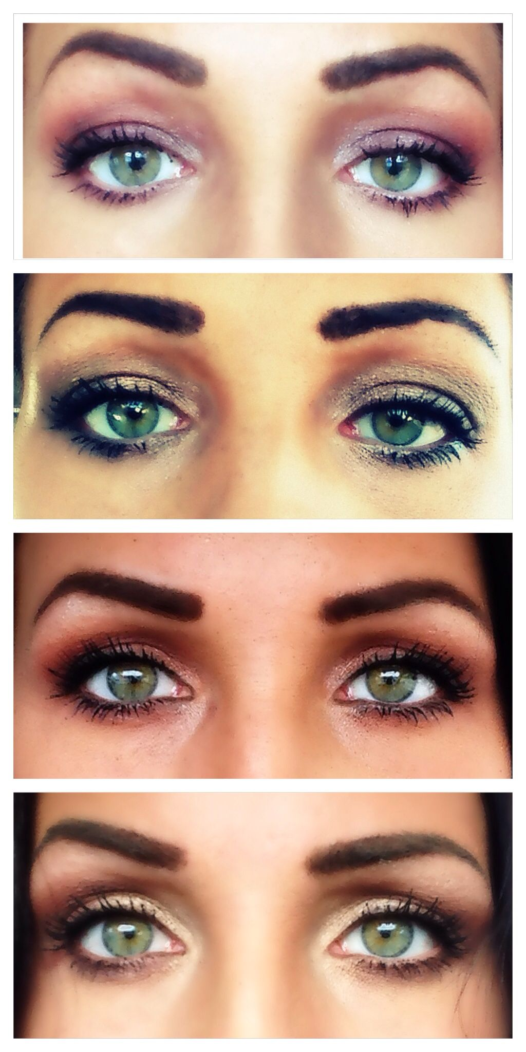 Makeup for green eyes..I like the bottom one