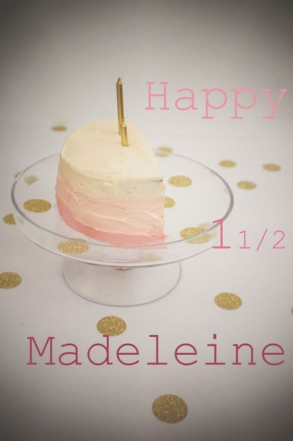 Half Birthday Honey Sponge Cake Gf With Images Half Birthday