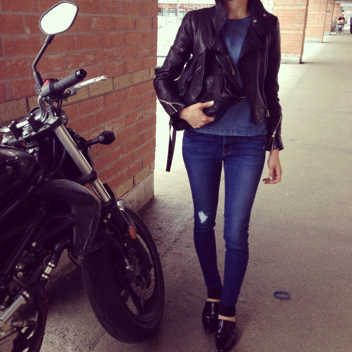 9a652f2468886b ... top quality street style mackage leather jacket jbrand jeans alexander  wang shoes helmut lang 01003 073bb