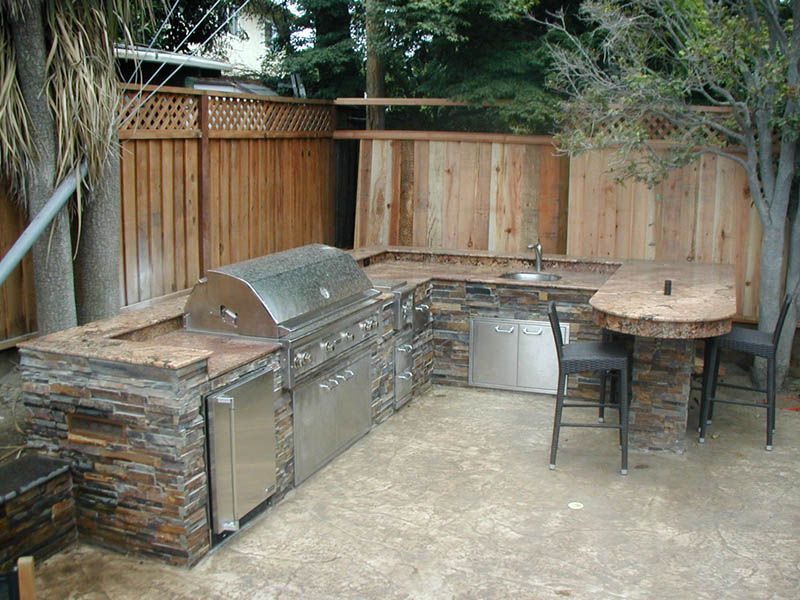 Backyard Bbq Designs Bbq Landscaping San Jose  Custom Barbecue Landscaping  Bay Area