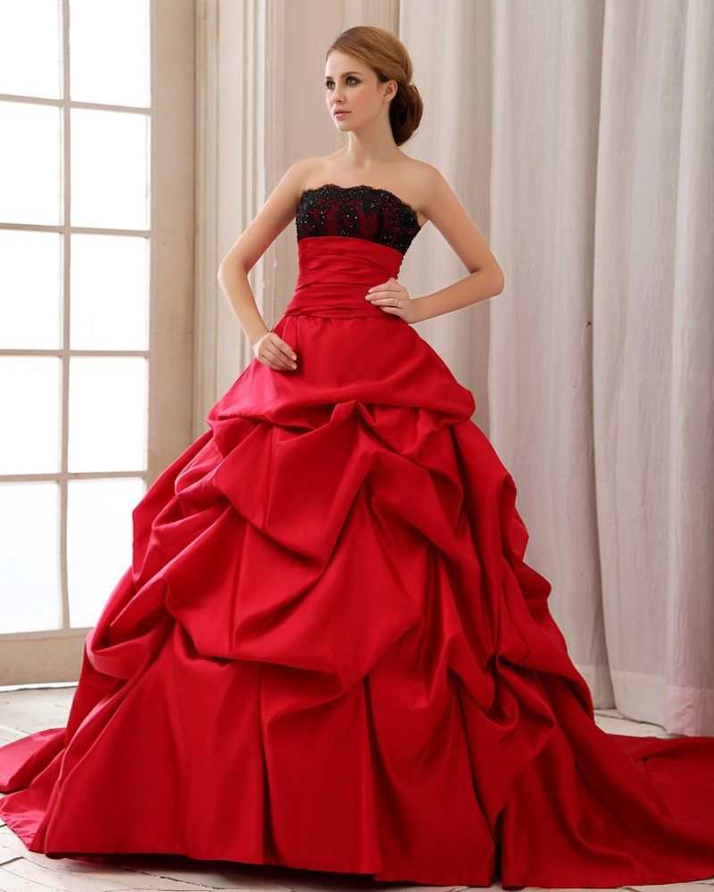 10  images about Wedding Dresses- Red on Pinterest - Red and white ...