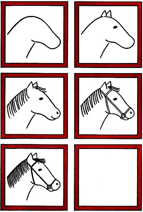 Horse Head How To Draw Pinterest Drawing Lessons For Kids