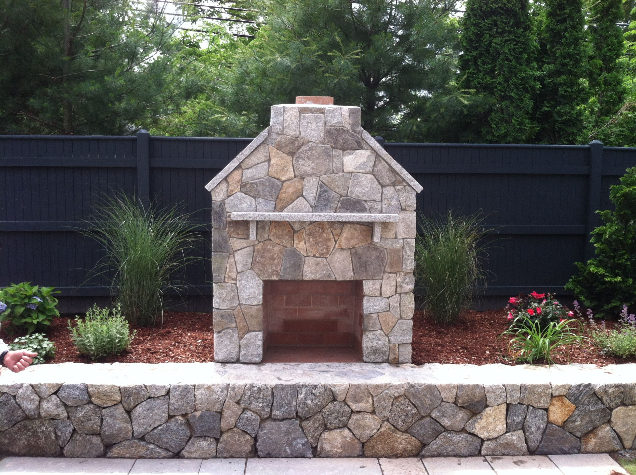 who said a fireplace had to be indoors beautiful outdoor fireplace