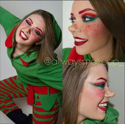 makeup christmas elf make up 51 ideas makeup  maquiagem