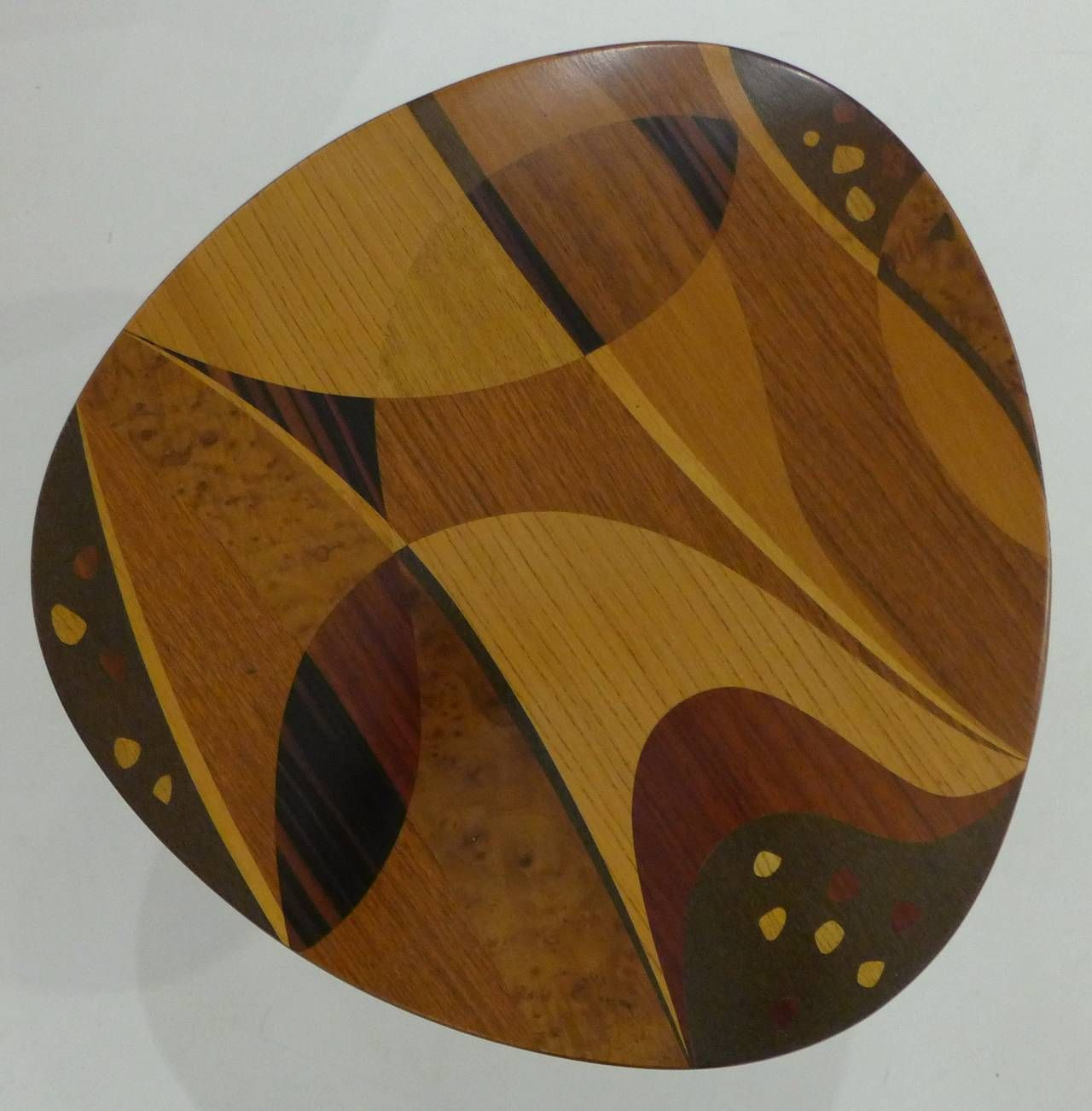 Erno Fabry Nest of Tables with Exotic Wood Inlay image 8