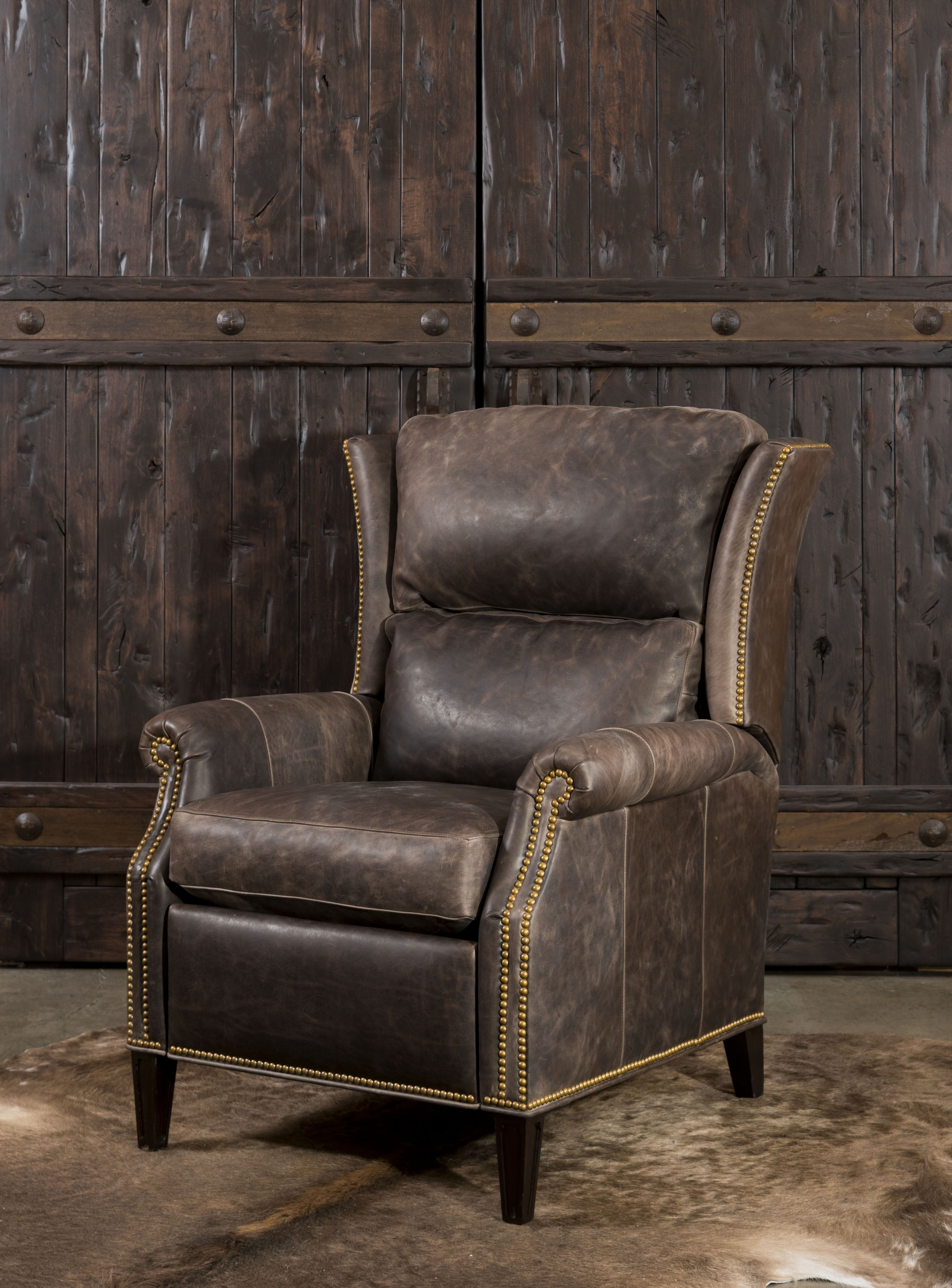 The Lexington Recliner at Adobe Interiors features a beautiful