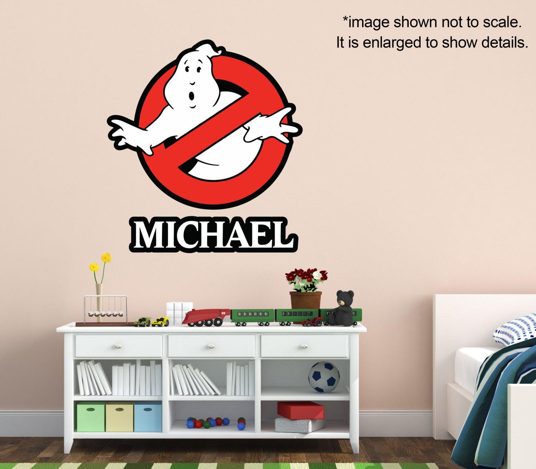 Ghostbusters Name Custom Vinyl Wall Decal Kids Room Decor - Vinyl wall decals kids