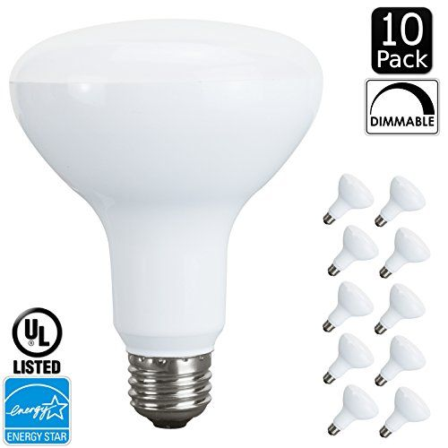 Luxrite Lr31810 10pack Led10br30r30 10watt Led Br30 Flood Light Bulb Equivalent To 65w Dimmable Warm White 2700k 650 Lume Flood Lights Greater Light