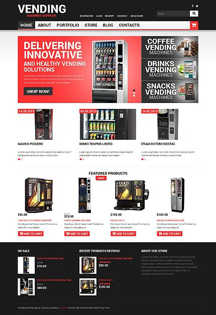 Template 49470 - Vending Machines Responsive WooCommerce Theme ...