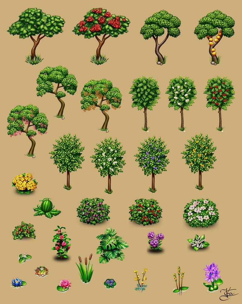 Деревья и растения Game decore
