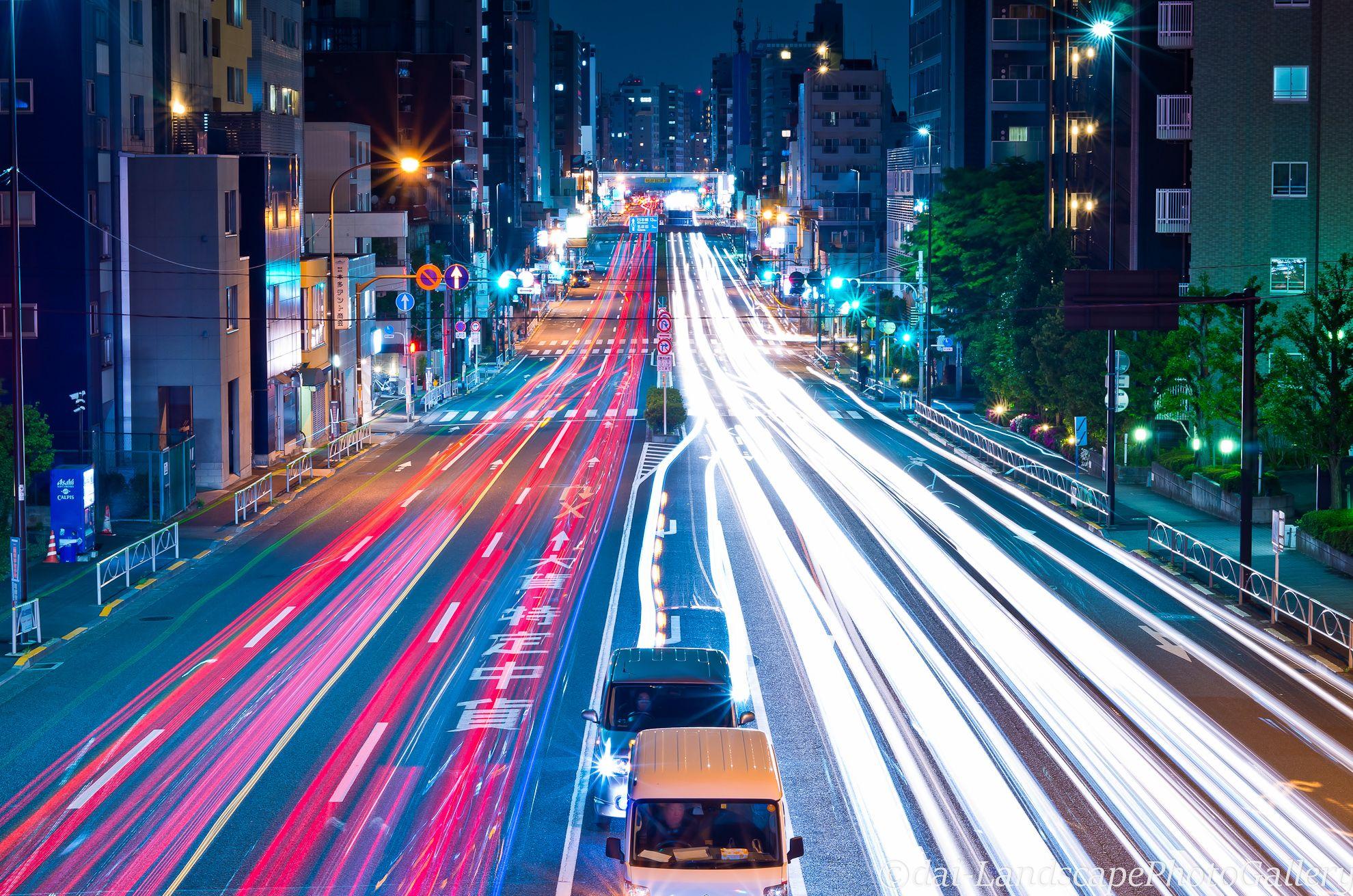 #street #Light #car #Japan #TOKYO #LightLine   東京, 夜景