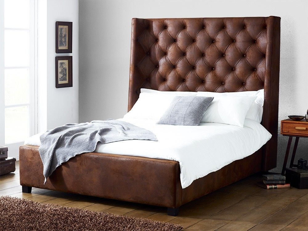 Inspirational Bed with Tall Headboard