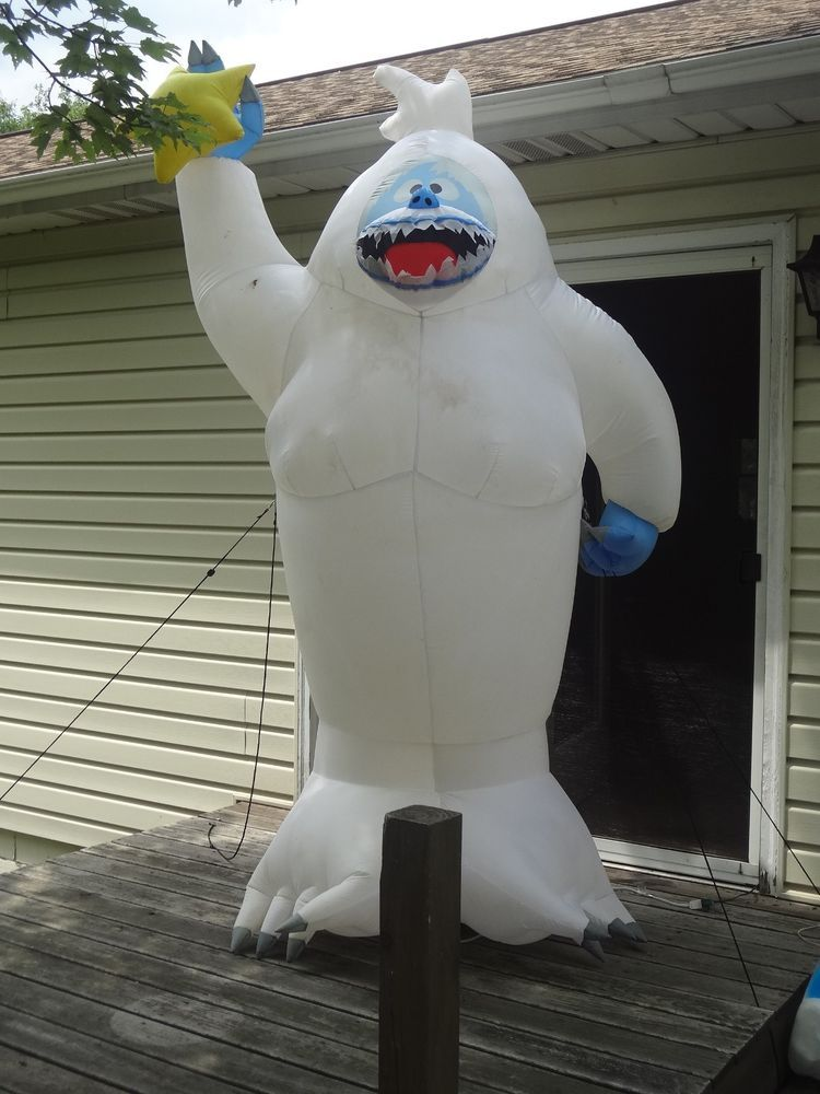 Gemmy airblown inflatable 8ft bumble abominable snowman for Abominable snowman outdoor decoration
