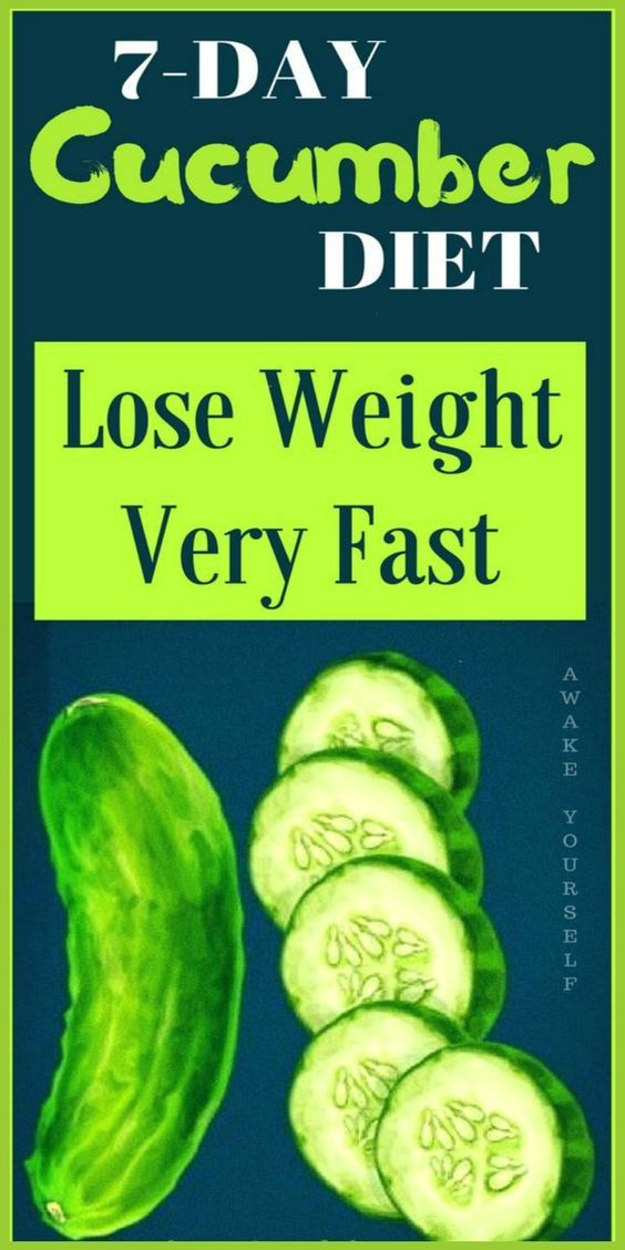 7 day cucumber diet lose weight very fast