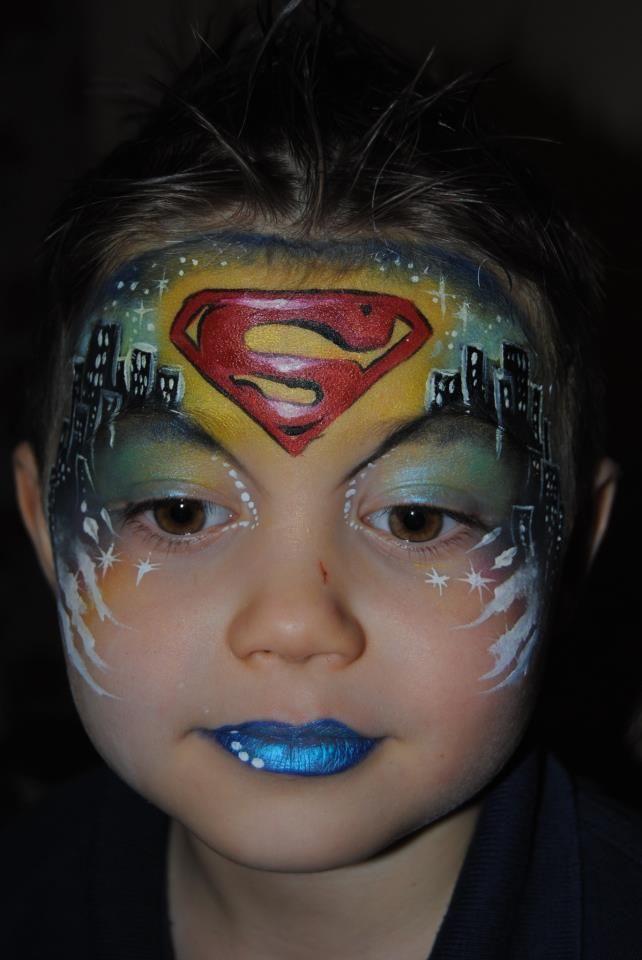 Gran universo lector Previsión superman disfraz pintar cara